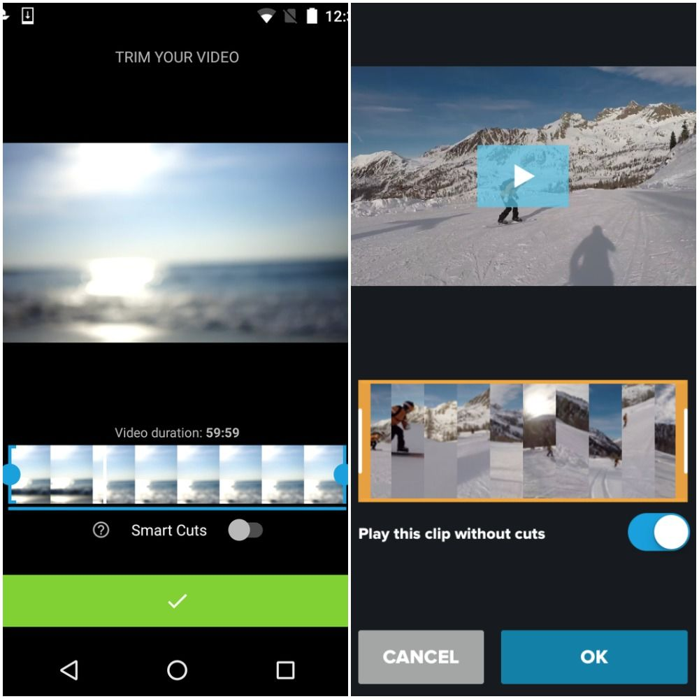 Quik, Video Editing Application on Android