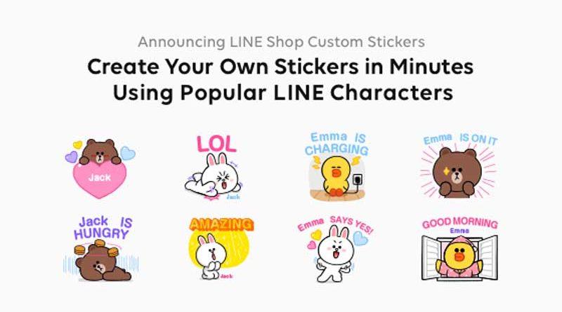 line custom stickers home