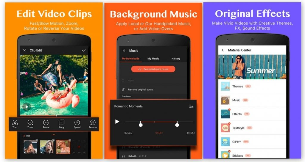 Video Show Editor, the best video editing application for android