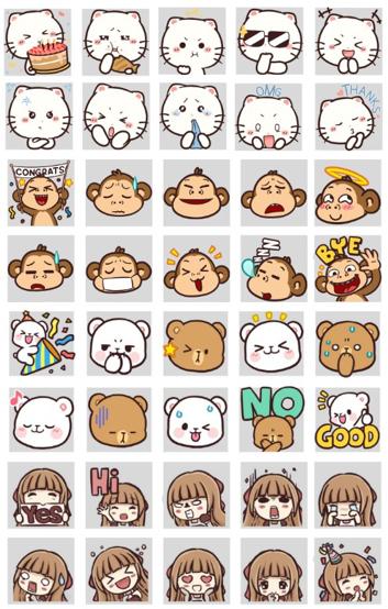 Line Emoji Gatis