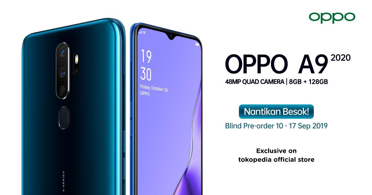 OPPO Gelar Blind Pre-Order A9 2020 di Tokopedia