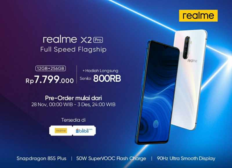 Realme x2 pro indonesia