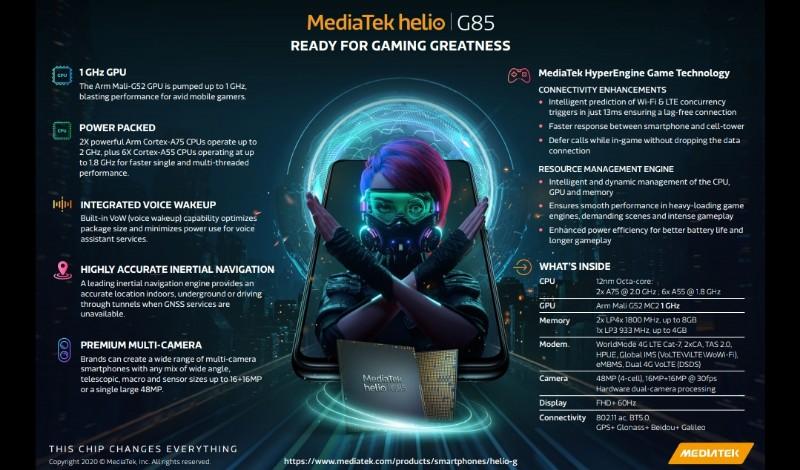 Mediatek helio g85 infografis